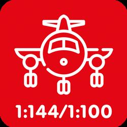 Burgerluchtvaart 1:144/1:100